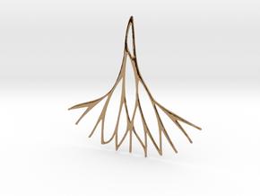 Fractal Earring / Pendant v.3  in Polished Brass