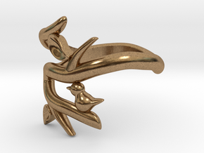 Bird on a Branch Ring in Natural Brass: 5 / 49