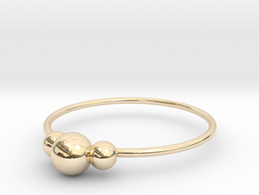 Size 6 Shapes Ring S2 in 14k Gold Plated Brass
