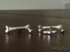 Anatomical Femur Cufflinks in Stainless Steel