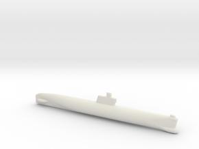 Romeo-Class/Type 033 Submarine, Full Hull, 1/1800 in White Natural Versatile Plastic