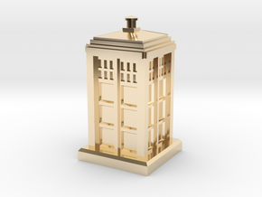 N Gauge - Police Box  in 14K Yellow Gold