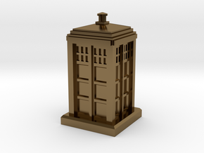 N Gauge - Police Box  in Polished Bronze