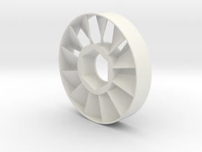 ER-11 Prop-Nut Collet Nut Fan CNC Chip Blower in White Strong & Flexible