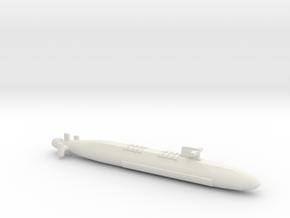 FS Le Triomphant SSBN, Full Hull, 1/1800 in White Natural Versatile Plastic