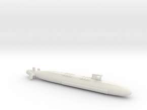 FS Le Triomphant SSBN, Full Hull, 1/2400 in White Natural Versatile Plastic