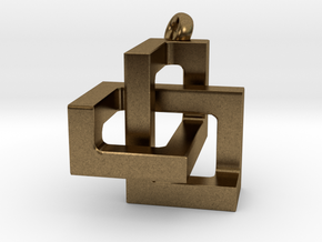 Cubic Trefoil Knot in Natural Bronze: Small