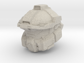 Halo Fred/centurion helmet 1/6 scale in Natural Sandstone