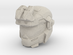 halo reach grenadier/Jorge 1/6 scale Helmet in Natural Sandstone
