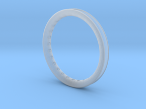 ring with diamonds in Smooth Fine Detail Plastic
