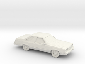 1/87 1978-83 Ford Fairmont Futura in White Natural Versatile Plastic