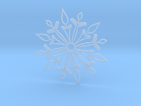Snowflake in Smooth Fine Detail Plastic