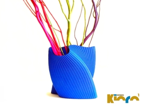 """wave vase """"Touch"""" in Blue Strong & Flexible Polished"""