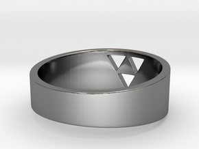"Triforce Ring - 8"" in Premium Silver"