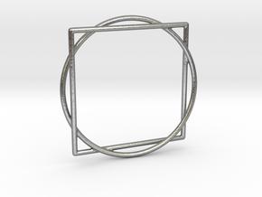 Squaring the Circle / Quadratur des Kreises in Natural Silver