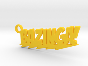 Bazinga Keychain in Yellow Processed Versatile Plastic