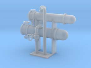 HO Scale Heat Exchanger Double in Smooth Fine Detail Plastic
