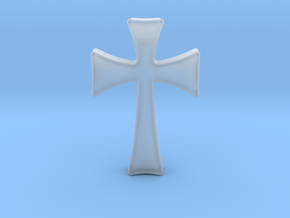 Germanic Cross Pendant, 45mm Tall in Smooth Fine Detail Plastic