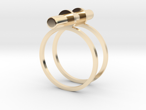Cerc - Size 8 US in 14k Gold Plated Brass