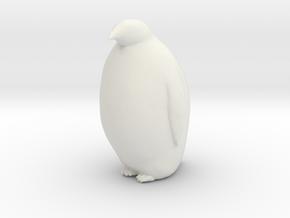 Penguin Looking Ahead in White Natural Versatile Plastic