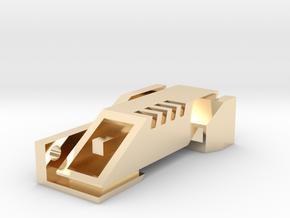 Ingress Portal Key ( 2.25in long ) in 14k Gold Plated Brass