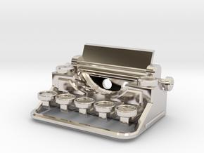 Typewriter Pendant in Platinum