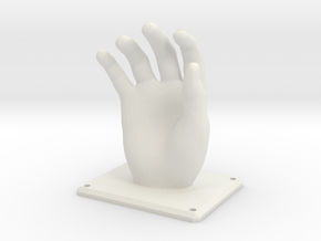 Hand Hanger in White Natural Versatile Plastic