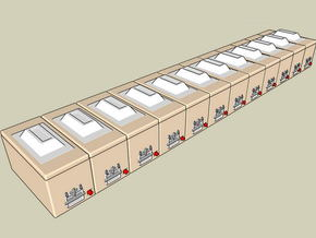 1:87 Trout transportboxes - Fischtransportboxen in Smooth Fine Detail Plastic