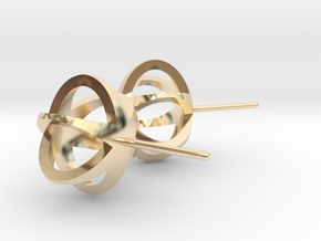 3D STAR GLITZ STUD EARRINGS in 14K Yellow Gold