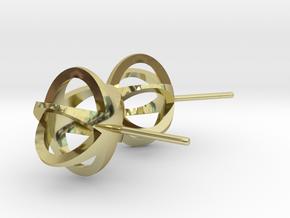 3D STAR GLITZ STUD EARRINGS in 18k Gold Plated Brass