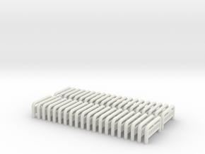Zaunelemente - 1:160 (N scale) in White Strong & Flexible