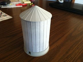 'N Scale' - 48' Diameter Grain Bin - 60' Tall in White Natural Versatile Plastic