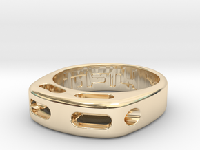US7 Ring XX: Tritium in 14k Gold Plated Brass