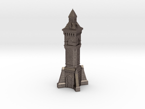 N Gauge Victorian Clock Tower in Polished Bronzed Silver Steel