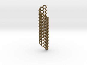 Nano Carbon Christmas Ornament in Polished Bronze