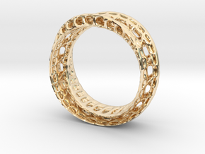 Twistedbond ring 21.2mm in 14K Yellow Gold