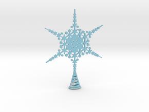 Large Sparkle Snow Star - Tree Top Fractal -MP5-L in Full Color Sandstone