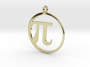 Pi Pendant in 18k Gold Plated Brass