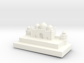Taj Mahal Full Color 3D Printer by Space 3D in White Strong & Flexible Polished