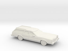 1/87 1977-79 Ford LTD II Station Wagon in White Natural Versatile Plastic