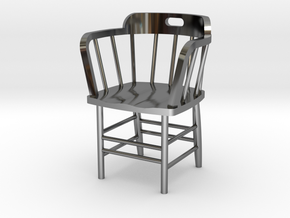 Caboose Chair Doll House 1/24th scale in Fine Detail Polished Silver