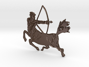 Centaur with bow in Polished Bronze Steel