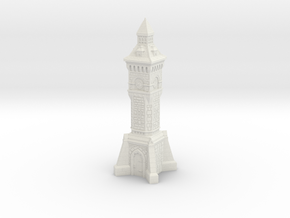 TT Gauge - Victorian Clock Tower in White Strong & Flexible
