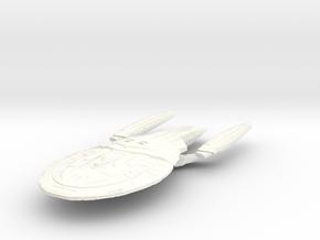 "Valcel Class BattleCruiser   5.6"" in White Processed Versatile Plastic"