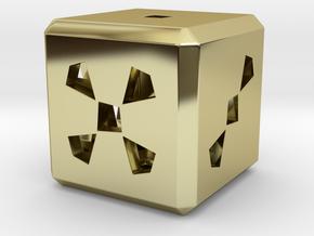 Dice No.3 S (balanced) (2cm/0.79in) in 18k Gold