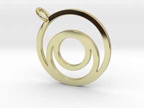 Nested Circles Pendant in 18k Gold Plated Brass