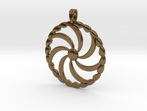 Borjgali Sun Tree Jewelry symbol Pendant. in Polished Bronze