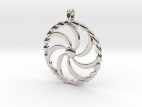 Borjgali Sun Tree Jewelry symbol Pendant. in Rhodium Plated Brass