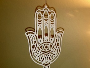 Khamsa (The Hand) in White Strong & Flexible