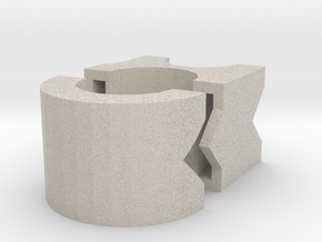 Modular Cable Tie Transition to Large Cable in Natural Sandstone